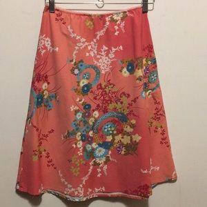 Miss Me brand floral print A-Line skirt